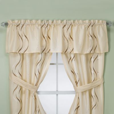 Croscill  Dante Bathroom Window Valance in Champagne. Buy Valances for Bathrooms from Bed Bath   Beyond