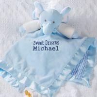 Elephant Baby Blankie in Blue