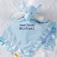Elephant Baby Blankie in Blue