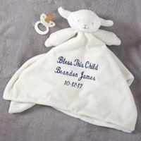 Lamb Baby Blankie in Ivory