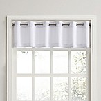 No. 918 Montego Casual Textured Grommet Kitchen Window Curtain Valance in White