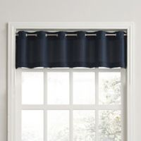 No. 918 Montego Casual Textured Grommet Kitchen Window Curtain Valance in Navy