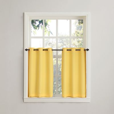 918 Montego Casual Textured 36 Inch Grommet Kitchen Window Curtain Tier  Pair In