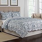 Nostalgia Home™ Calais King Reversible Quilt in Blue