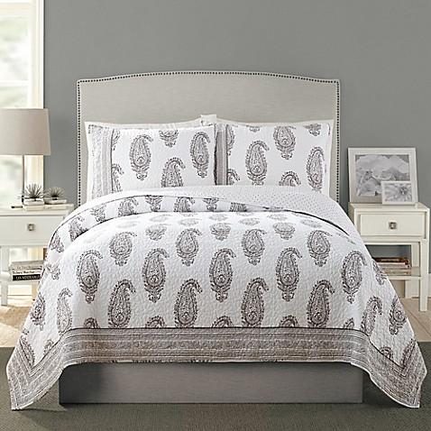 Vera Bradley 174 Nadya Quilt In Grey Bed Bath Amp Beyond