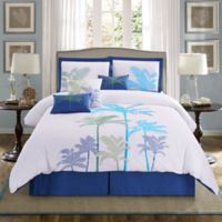 Panama Jack® Breezy Palms 7-Piece Reversible Queen Comforter Set in Aqua