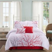 Panama Jack® Coral 7-Piece Reversible King Comforter Set in Coral