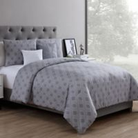 VCNY Home Eli 4-Piece Reversible Twin XL Comforter Set in Grey