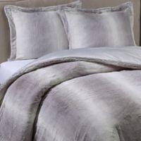 Nero Faux Fur 3-Piece Full/Queen Comforter Set in Grey