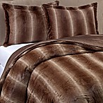 Mali Faux Fur 3-Piece Full/Queen Comforter Set in Chocolate