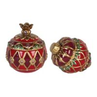 Fitz and Floyd® Renaissance Holiday Lidded Boxes (Set of 2)