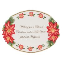 Fitz and Floyd® Kennedy White House Christmas Poinsettia Oval Platter