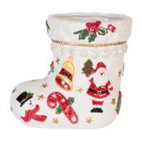 Fitz and Floyd® Kennedy White House 8-Inch Christmas Stocking Vase