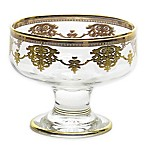 Classic Touch Dessert Glass Bowls in Gold (Set of 6)