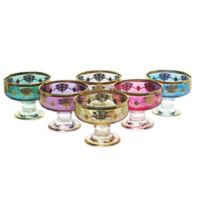 Classic Touch Dessert Bowls in Assorted Colors (Set of 6)
