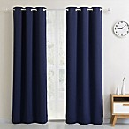 Blackout 54-Inch Grommet Top Window Curtain Panel in Navy