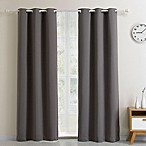 Blackout 63-Inch Grommet Top Window Curtain Panel in Charcoal