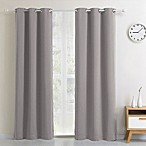 Blackout 54-Inch Grommet Top Window Curtain Panel in Silver