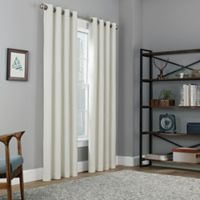 Copley Square 63-Inch Grommet Top Blackout Window Curtain Panel in White