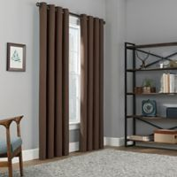 Copley Square 84-Inch Grommet Top 100% Blackout Window Curtain Panel in Chocolate