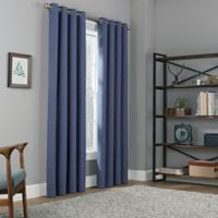 Copley Square 84-Inch Grommet Top Blackout Window Curtain Panel in Indigo