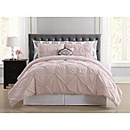Truly Soft Pueblo Pleated 8-Piece Full Comforter Set in Blush