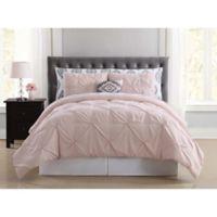 Truly Soft Pueblo Pleated 8-Piece Queen Comforter Set in Blush