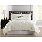 Truly Soft Pueblo Pleated 8-Piece Queen Comforter Set in Ivory
