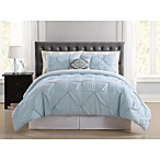 Truly Soft Pueblo Pleated 8-Piece King Comforter Set in Light Blue