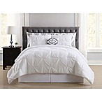 Truly Soft Pueblo Pleated 8-Piece Queen Comforter Set in White