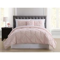 Truly Soft Arrow Pleated 8-Piece Queen Comforter Set in Blush