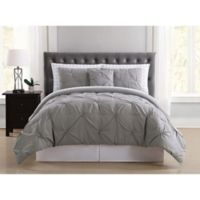 Truly Soft Arrow Pleated 8-Piece Queen Comforter Set in Grey