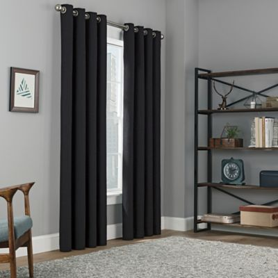 Copley Square 108 Inch Grommet Top Blackout Window Curtain Panel In Black Part 98
