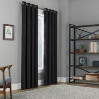 Copley Square 95-Inch Grommet Top 100% Blackout Window Curtain Panel in Black