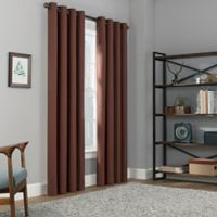 Copley Square 108-Inch Grommet Top Blackout Window Curtain Panel in Rust