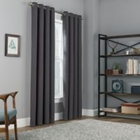 Copley Square 63-Inch Grommet Top Blackout Window Curtain Panel in Charcoal