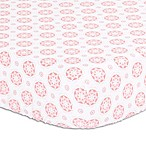 The Peanut Shell® Floral Fitted Crib Sheet in Light Coral