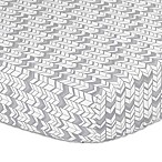 The Peanut Shell® Herringbone Fitted Crib Sheet in Silver