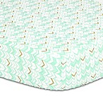 The Peanut Shell® Herringbone Fitted Crib Sheet in Turquoise