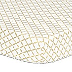 The Peanut Shell® Lattice Fitted Crib Sheet in Gold