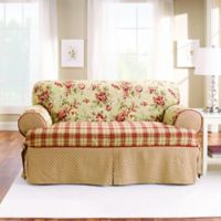 Sure Fit® Lexington T-Cushion Loveseat Protector