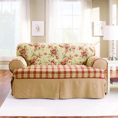 Sure Fit® Lexington T Cushion Sofa Protector