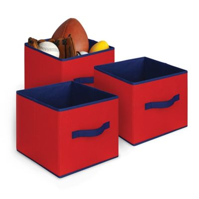 Collapsible Storage Cubes in Red/Blue (Set of 3)  sc 1 st  Bed Bath u0026 Beyond & Buy Red Storage Cubes from Bed Bath u0026 Beyond