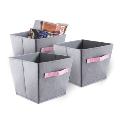 Buy Pink Storage Bins from Bed Bath Beyond