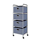 4-Drawer Trolley Cart in Navy