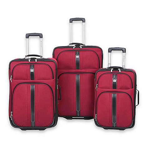 Dockers 174 South Beach 3 Piece Luggage Set Red Bed Bath