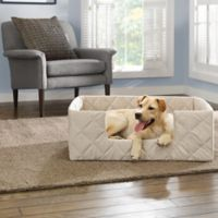 SUREFIT Deep Pile Portable Small Pet Bed in Cement