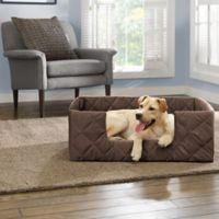 SUREFIT Deep Pile Portable X-Large Pet Bed in Chocolate