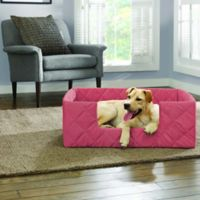 SUREFIT Deep Pile Portable Small Pet Bed in Coral