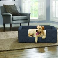SUREFIT Deep Pile Portable Small Pet Bed in Storm Blue